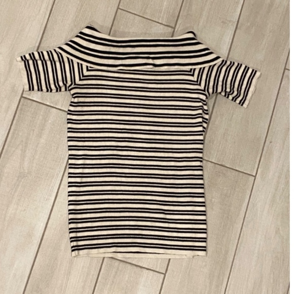The Limited Tops - Striped Off The Shoulder Sweater